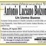 Antonio Luciano Bolzonaro    di anni 72