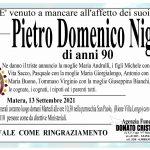 Pietro Domenico Niglio di anni 90