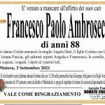 Francesco Paolo Ambrosecchia   di anni 88