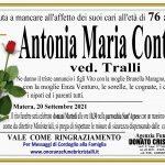 Antonia Maria Contini ved. Tralli   di anni 76