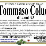 Tommaso Colucci di anni 93