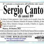 Sergio Cantore di anni 89