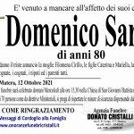 Domenico Sarra di anni 80